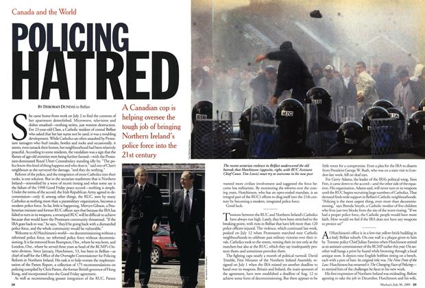 Article Preview: POLICING HATRED, July 2001 | Maclean's