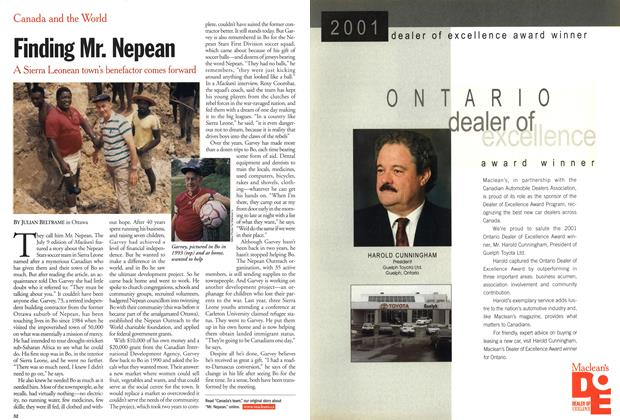 Article Preview: Finding Mr. Nepean, July 2001 | Maclean's