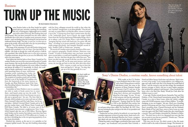 Article Preview: TURN UP THE MUSIC, July 2001 | Maclean's
