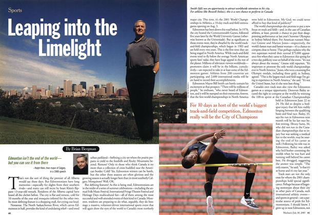 Article Preview: Leaping into the Limelight, July 2001 | Maclean's