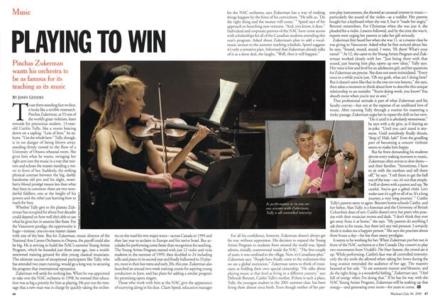 Article Preview: PLAYING TO WIN, July 2001 | Maclean's