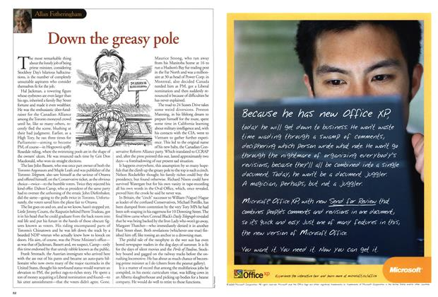 Article Preview: Down the greasy pole, July 2001 | Maclean's