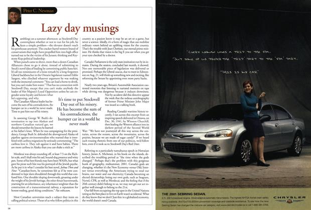 Article Preview: Lazy day musings, July 2001 | Maclean's
