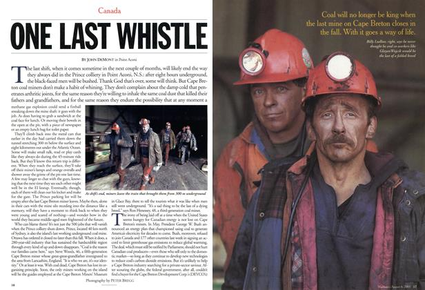 Article Preview: ONE LAST WHISTLE, August 2001 | Maclean's
