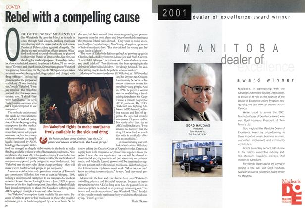 Article Preview: Rebel with a compelling cause, August 2001 | Maclean's