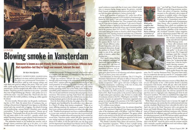 Article Preview: Blowing smoke in Vansterdam, August 2001 | Maclean's