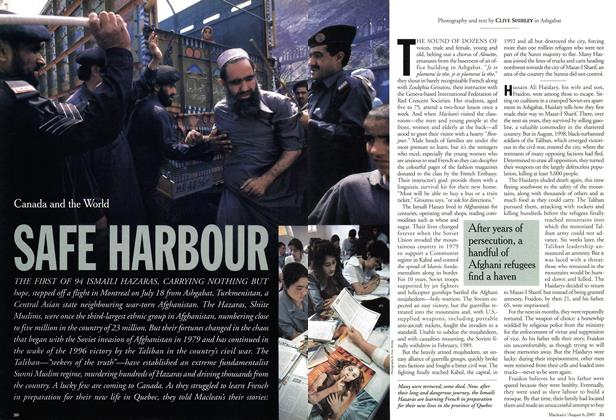 Article Preview: SAFE HARBOUR, August 2001 | Maclean's