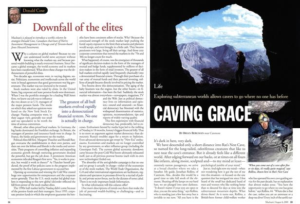 Article Preview: CAVING GRACE, August 2001 | Maclean's