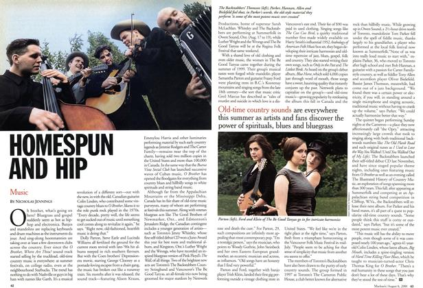 Article Preview: HOMESPUN AND HIP, August 2001 | Maclean's