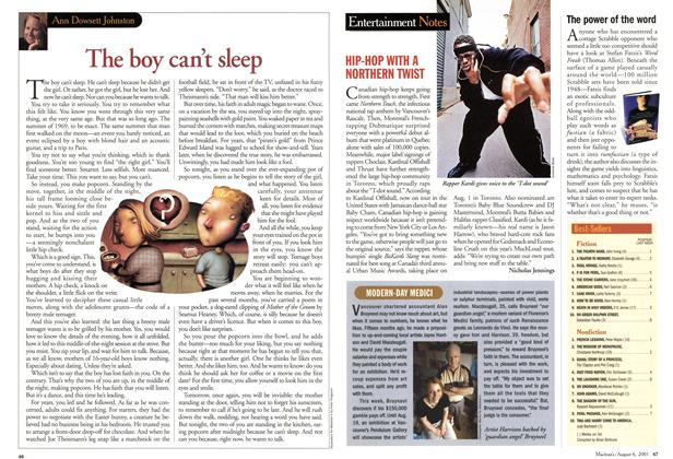 Article Preview: Entertainment Notes, August 2001 | Maclean's