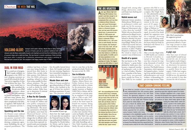 Article Preview: THE WEEK THAT WAS, August 2001 | Maclean's