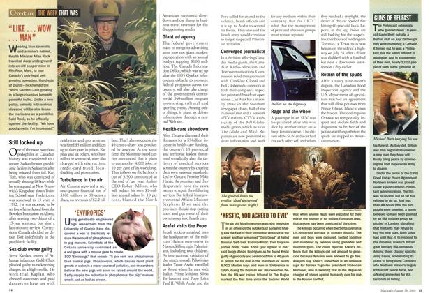 Article Preview: THE WEEK THAT WAS, August 2001   Maclean's