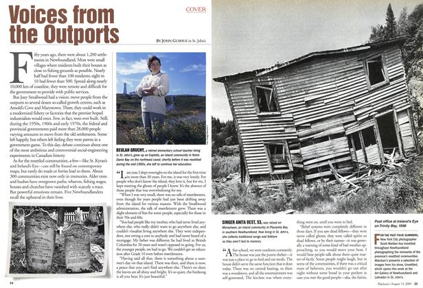 Article Preview: Voices from the Outports, August 2001 | Maclean's