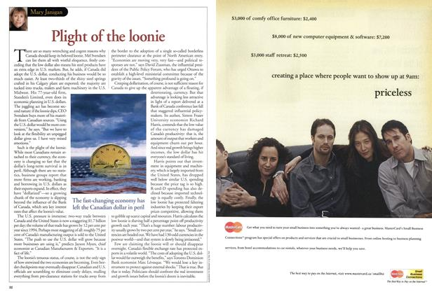 Article Preview: Plight of the loonie, August 2001 | Maclean's