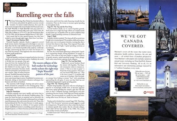 Article Preview: Barrelling over the falls, August 2001 | Maclean's