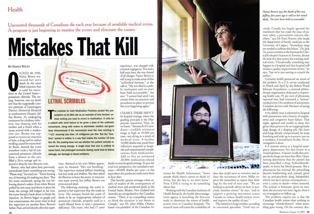 Article Preview: Mistakes That Kill, August 2001   Maclean's