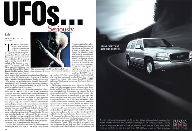 Article Preview: UFOs. . . Seriously, August 2001 | Maclean's