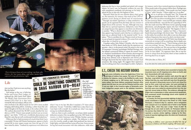Article Preview: E.T., CHECK THE HISTORY BOOKS, August 2001 | Maclean's