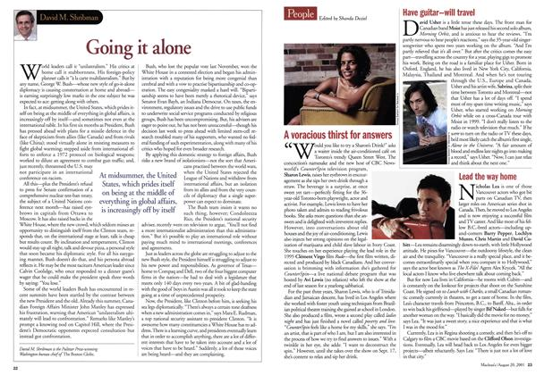 Article Preview: Going it alone, August 2001 | Maclean's