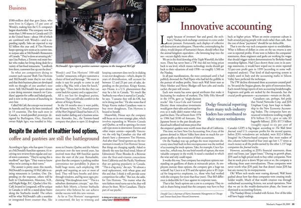Article Preview: Innovative accounting, August 2001 | Maclean's