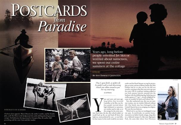 Article Preview: POSTCARDS from Paradise, August 2001 | Maclean's