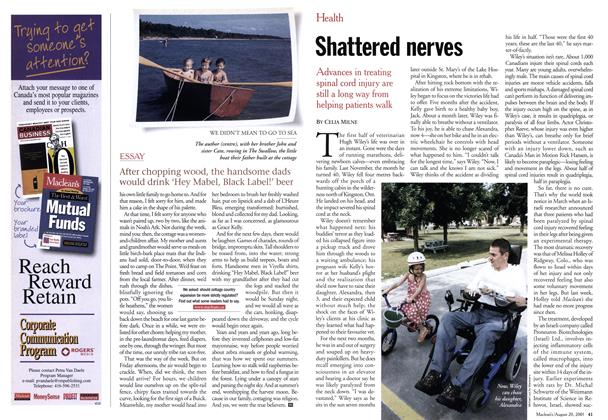 Article Preview: Shattered nerves, August 2001 | Maclean's