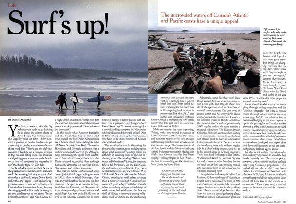 Article Preview: Surf's up!, August 2001 | Maclean's