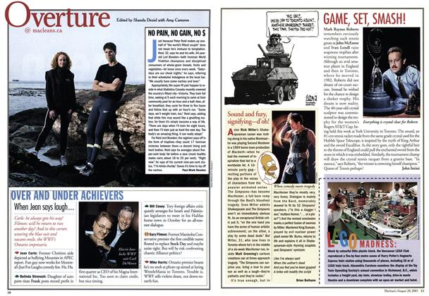Article Preview: Overture, August 2001 | Maclean's