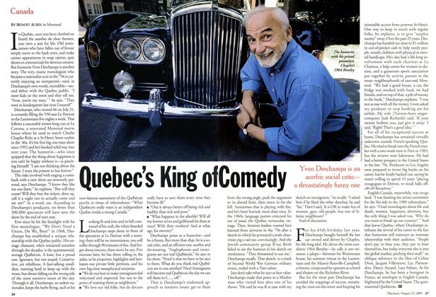 Article Preview: Quebec's King of Comedy, August 2001 | Maclean's