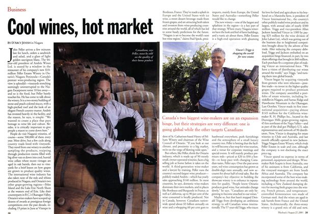 Article Preview: Cool wines, hot market, August 2001 | Maclean's