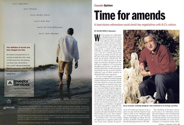 Article Preview: Time for amends, September 2001 | Maclean's