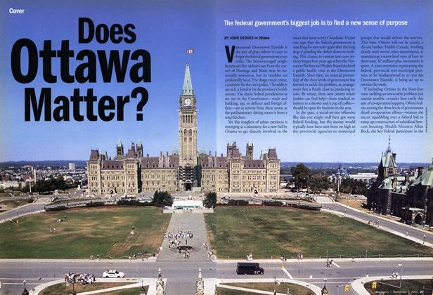 Article Preview: Does Ottawa Matter?, September 2001 | Maclean's