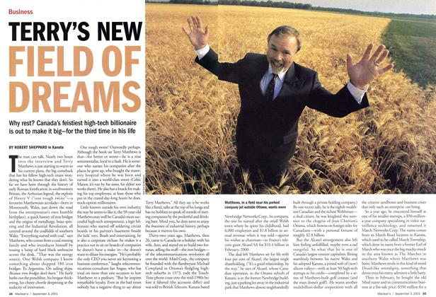 Article Preview: TERRY'S NEW FIELD OF DREAMS, September 2001 | Maclean's