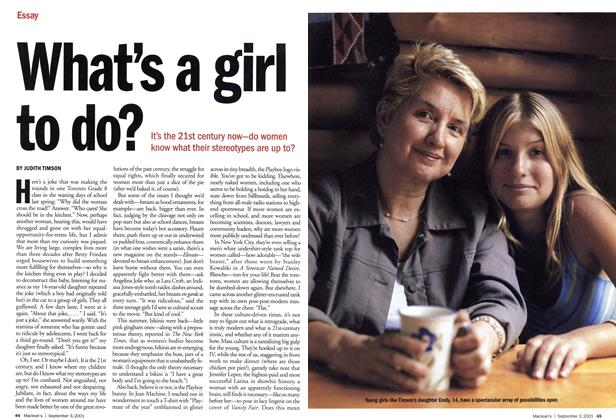 Article Preview: What's a girl to do?, September 2001 | Maclean's
