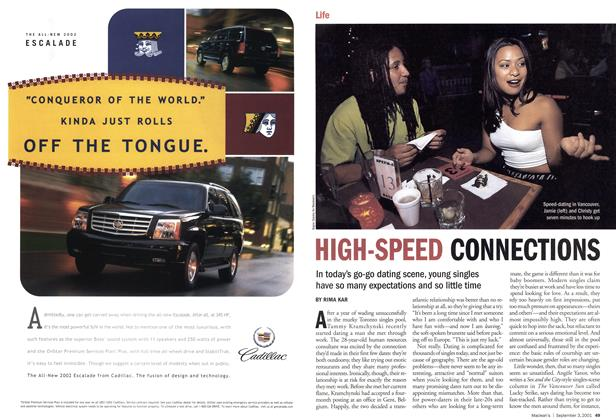 Article Preview: HIGH-SPEED CONNECTIONS, September 2001 | Maclean's