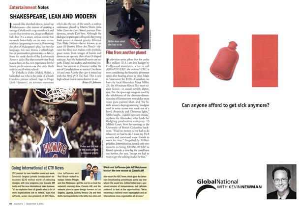 Article Preview: SHAKESPEARE, LEAN AND MODERN, September 2001 | Maclean's