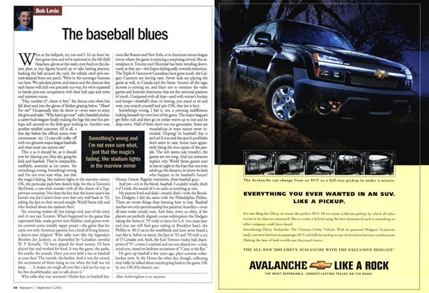 Article Preview: The baseball blues, September 2001 | Maclean's