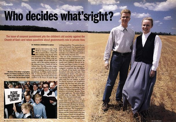 Article Preview: Who decides what's right?, September 10,2001 2001 | Maclean's