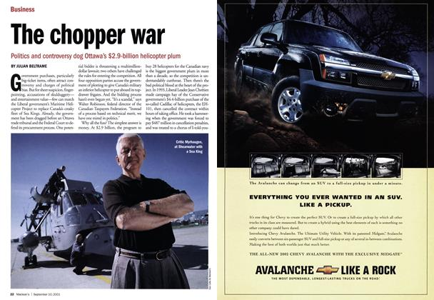 Article Preview: The chopper war, September 10,2001 2001 | Maclean's