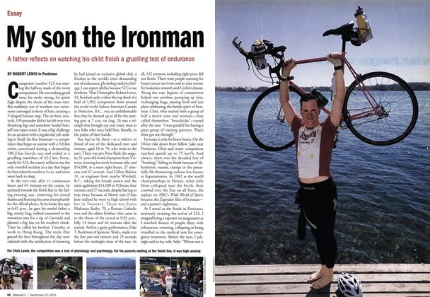 Article Preview: My son the Ironman, September 10,2001 2001 | Maclean's