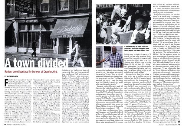 Article Preview: A town divided, September 10,2001 2001 | Maclean's