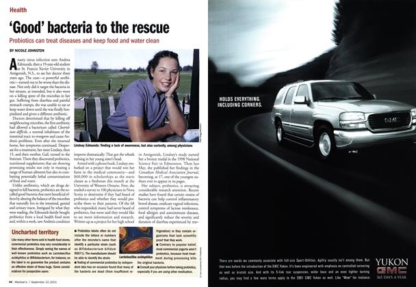 Article Preview: 'Good' bacteria to the rescue, September 10,2001 2001 | Maclean's