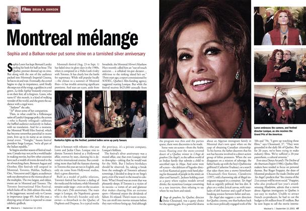 Article Preview: Montreal mélange, September 10,2001 2001 | Maclean's