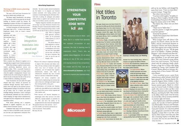 Article Preview: Hot titles in Toronto, September 10,2001 2001 | Maclean's