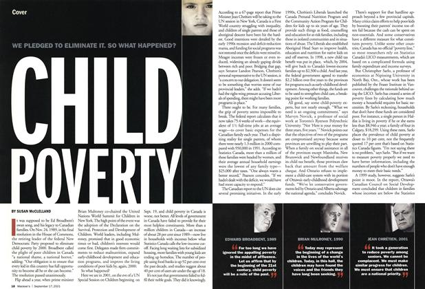 Article Preview: CHILD POVERTY, September 2001 | Maclean's