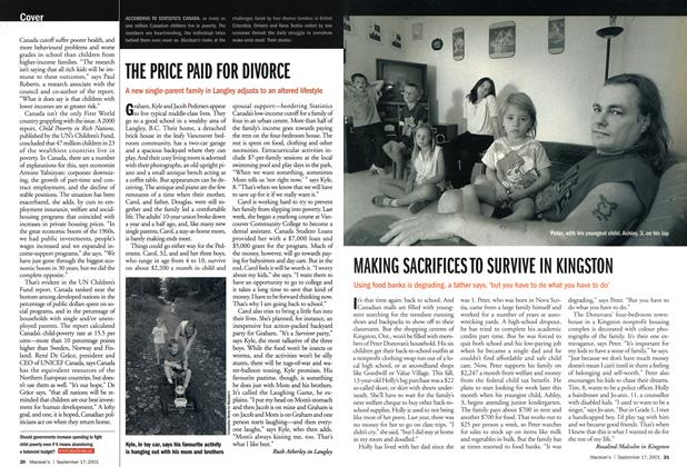 Article Preview: THE PRICE PAID FOR DIVORCE, September 2001 | Maclean's