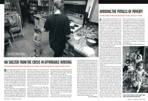 Article Preview: NO SHELTER FROM THE CRISIS IN AFFORDABLE HOUSING, September 2001 | Maclean's