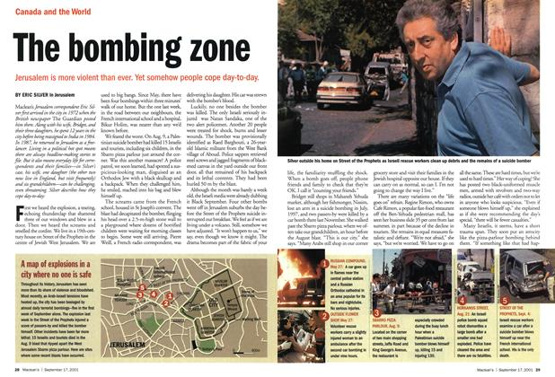 Article Preview: The bombing zone, September 2001 | Maclean's