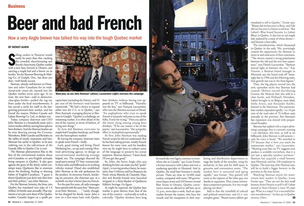Article Preview: Beer and bad French, September 2001 | Maclean's