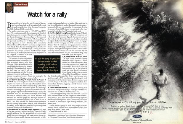 Article Preview: Watch for a rally, September 2001 | Maclean's